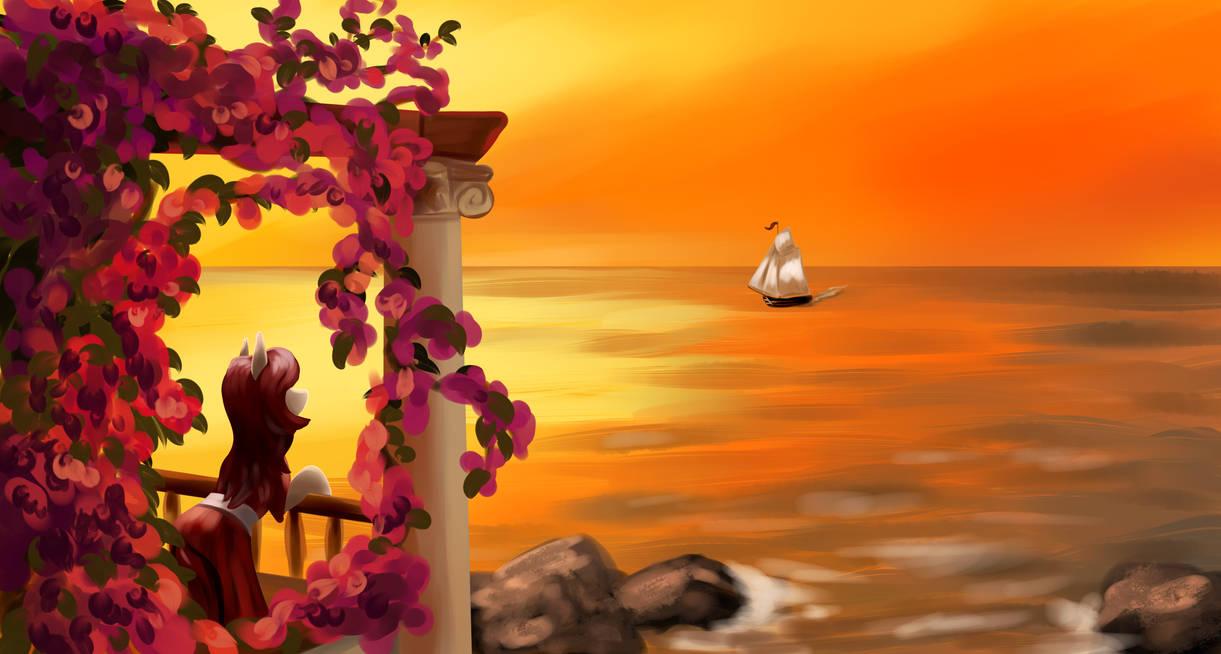 https://www.deviantart.com/dukevonkessel/art/Sunset-at-sea-820796417