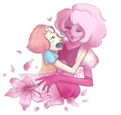Steven universe fan art of Pearl & Pink