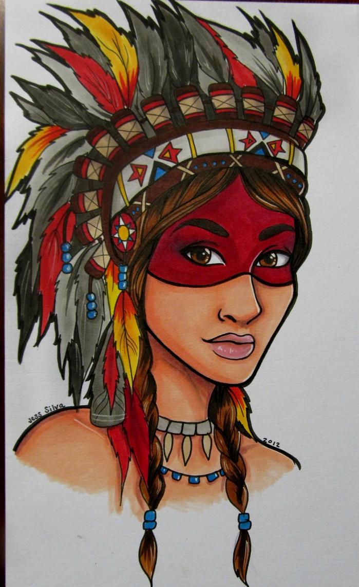 indian girl tattoo design by sinkholes666 on deviantart. Black Bedroom Furniture Sets. Home Design Ideas