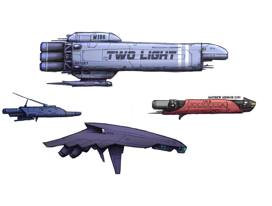 Spaceships by Zando-Zennek