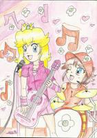 RQ: Peach and Daisy Sings by megadaisy1