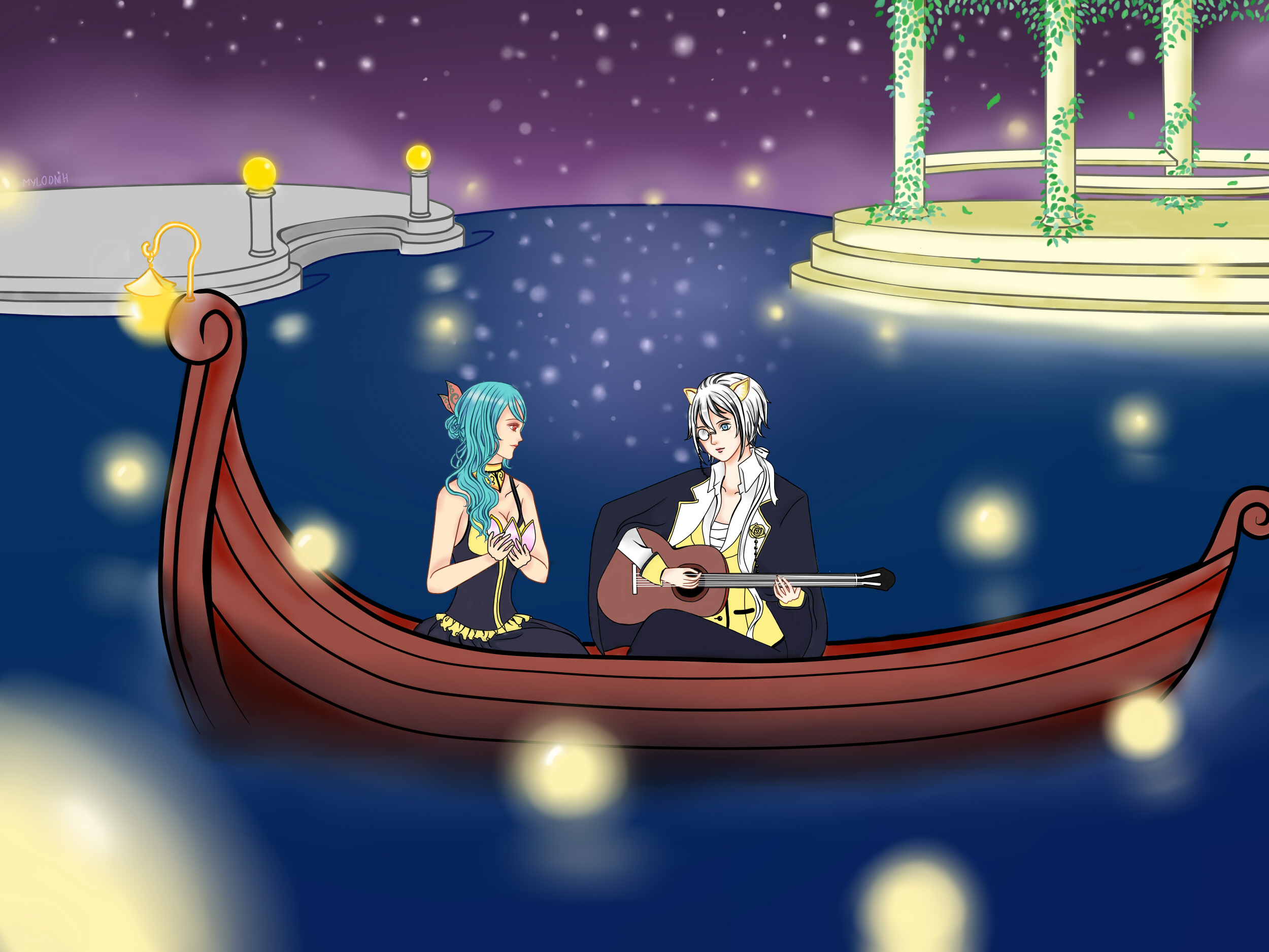 [L4S] Summer prom_ Couple Dolly Leo and Kurayami by Mylodnih