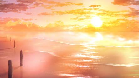 Orange Sunrise by JellySnek