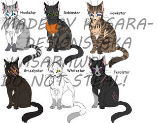 Warrior Cats-Leaders 1 GONE by Kasara-Designs