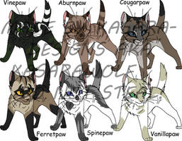 Warrior Cats- Apprentices2GONE by Kasara-Designs