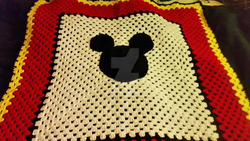 Mickey Mouse Crochet Baby Blanket Pattern : Mickey Mouse Crochet Baby Blanket by leothelion89 on ...