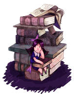 Matilda and Her Books by JohnPohlman
