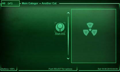 Fallout Pandora Mini Menu skin by Boolean121