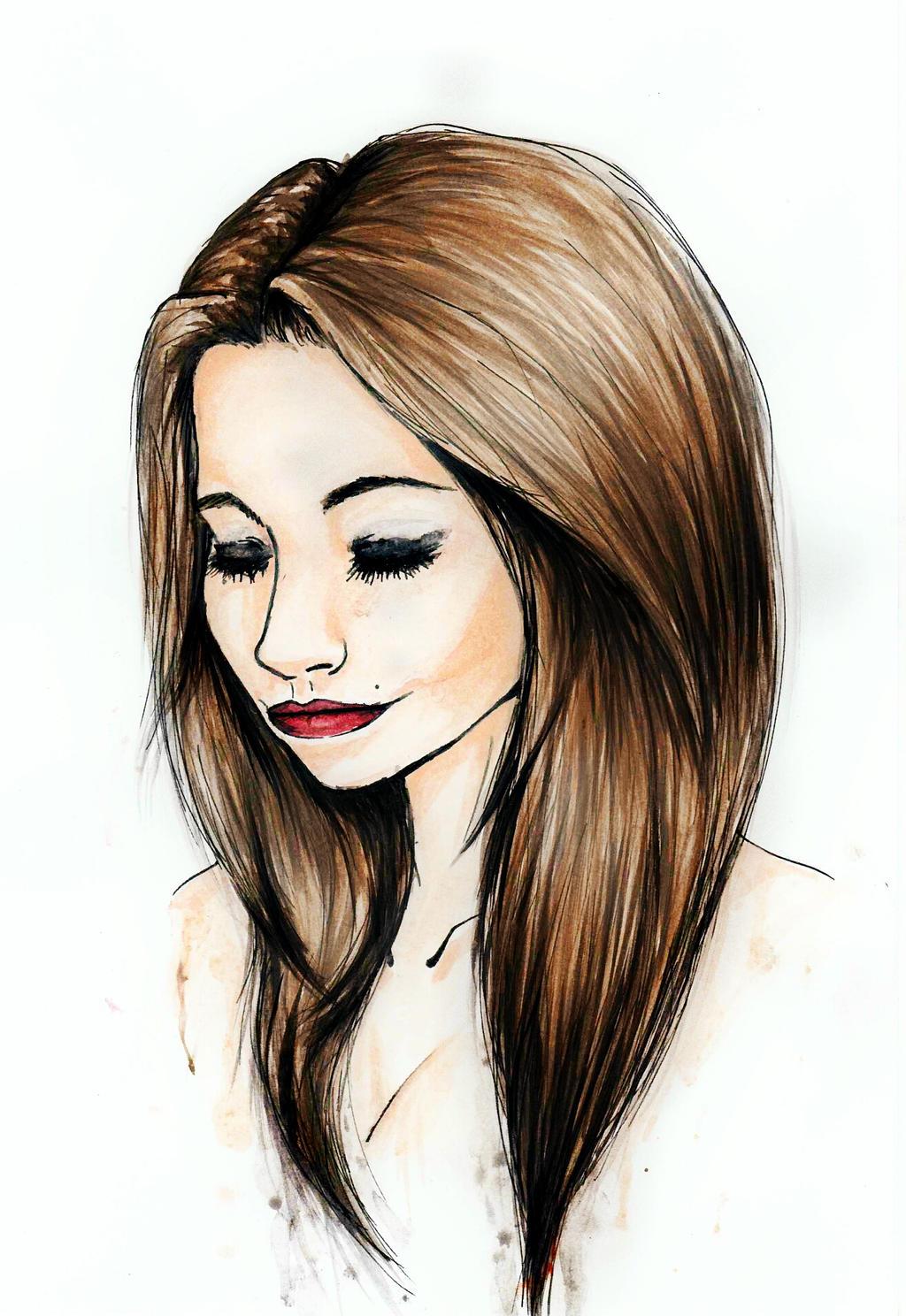 Sophie watercolor by zumrabihteracar watch fan art traditional art