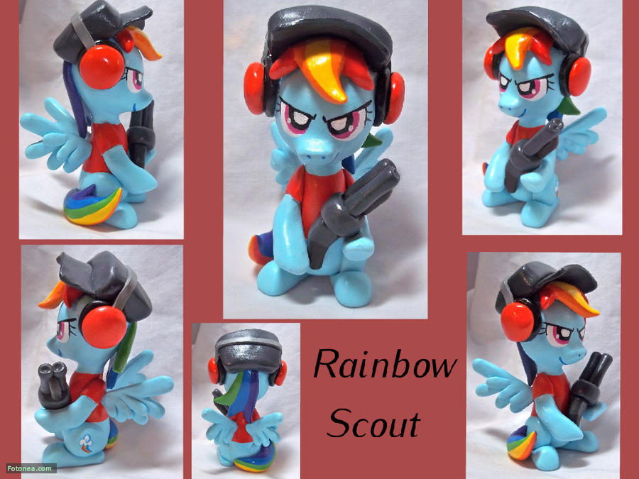 Rainbow Dash Scout Sculpt by CadmiumCrab