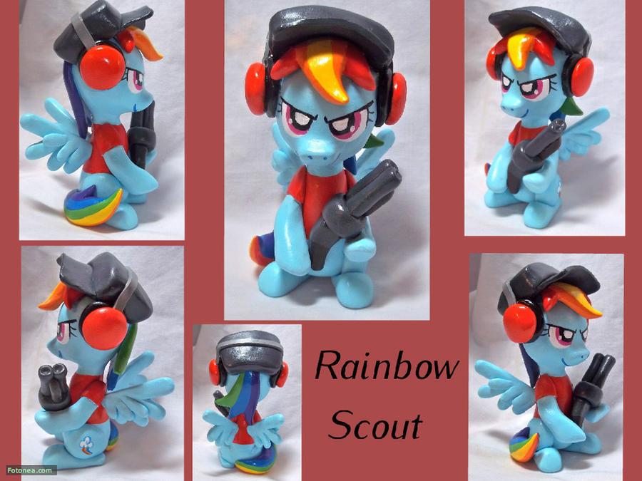 Rainbow Dash Scout Sculpt by CadmiumCrab