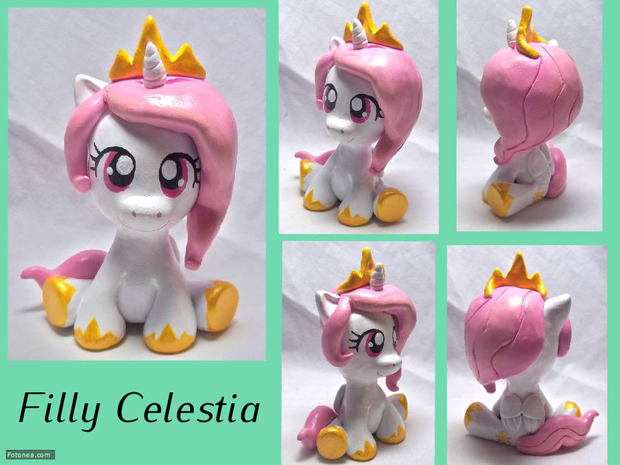 Filly Celestia Sculpt by CadmiumCrab