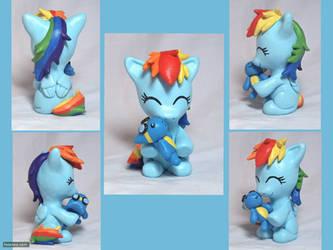 Filly Rainbow Dash Sculpture by CadmiumCrab