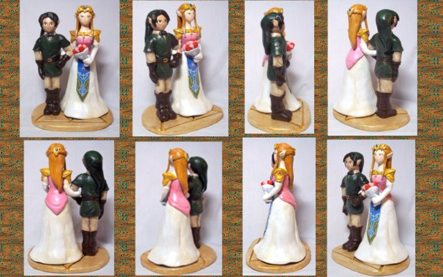 Legend Of Zelda Wedding Cake Topper Multiple View By Cadmiumcrab On