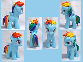 Filly Rainbow Dash custom toy by CadmiumCrab