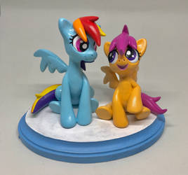 RD and Scootaloo Sculpt