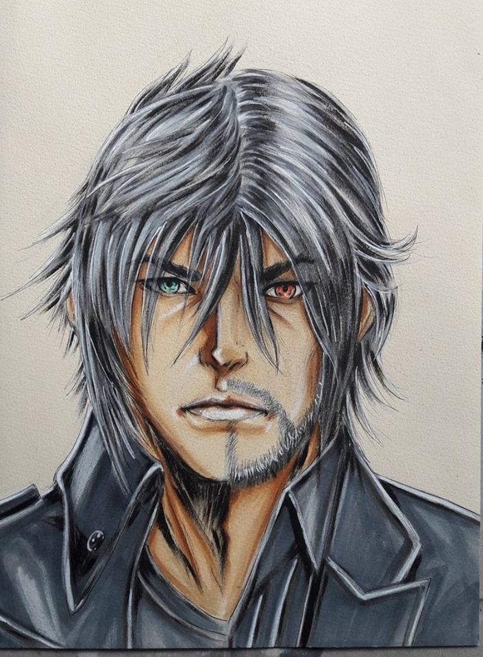 Noctis Lucis Caelum Young And Old By Kazamatt On Deviantart
