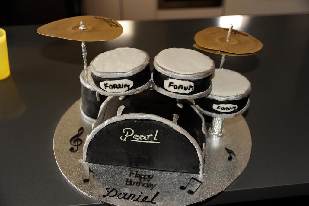 Drum Kit Birthday Cake Metal