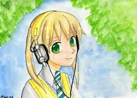 Maka Albarn listening to Psychadelic Souljam by Muffy-Fluff
