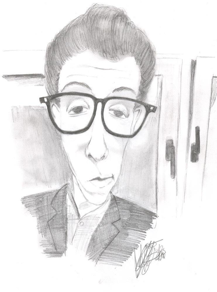 Elvis Costello by SenkaChan