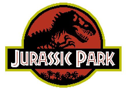 Jurassic Park Free Cross Stitch Pattern by BunBunK