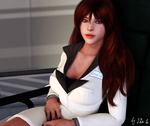 Claire Redfield with long hair
