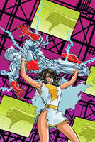 Overhead lift by Mary Marvel by theasshunter