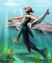 BNHA OC Mermaid AU Raiden