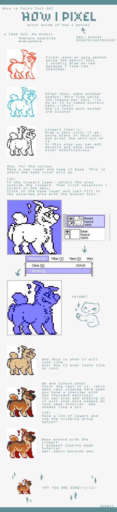 How I pixel, a tutorial by suohii