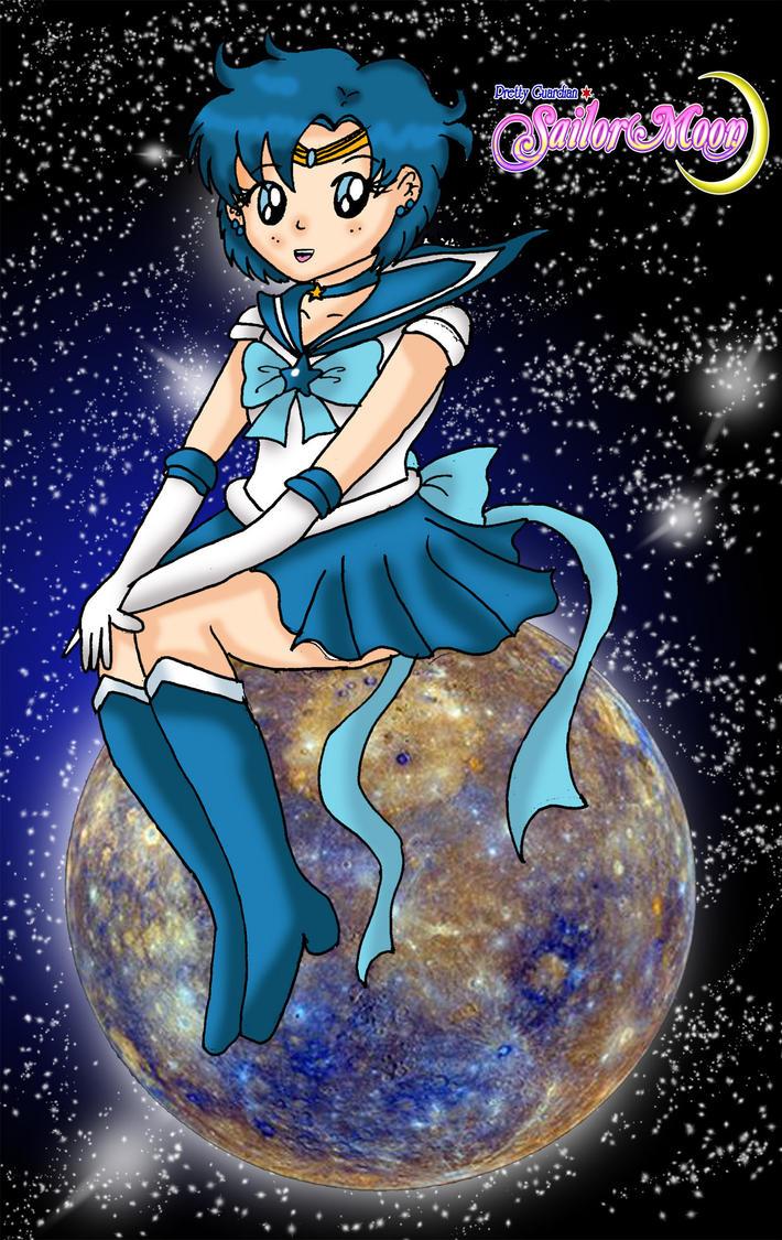 Sailor Mercury On Mercury by Animecolourful