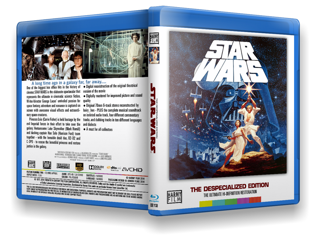 Frank's Star Wars DVD/BD Covers - Original Trilogy