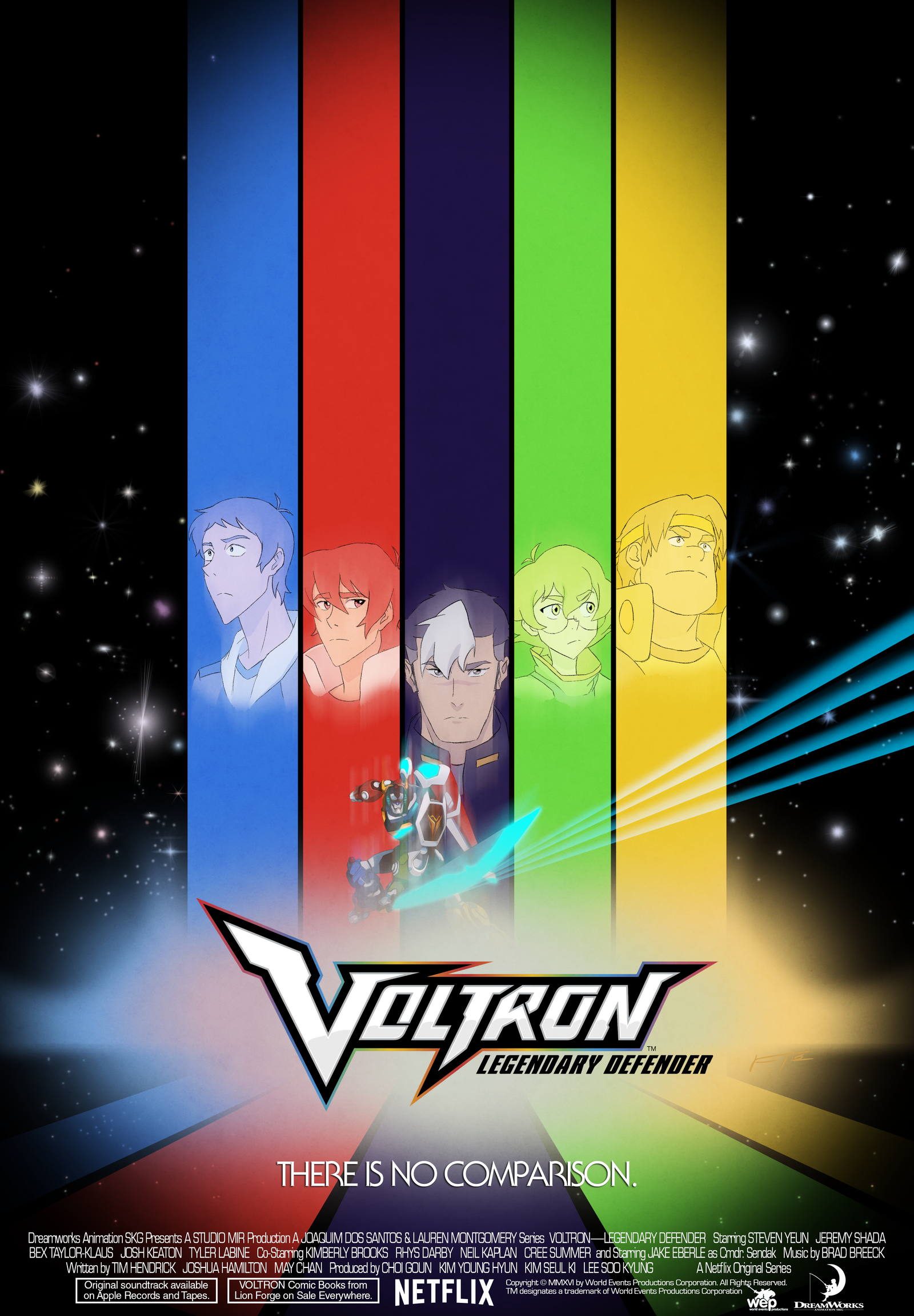 Voltron:LD Retro-ish Poster by FrankRT