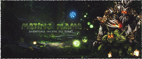 Metin2 Forest Theme Banner by MayasOldPenguin