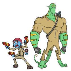 Tibler and Oengus - Bounty Hunters Character Art