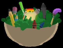 'Imagination Salad' Logo Design by captainslam
