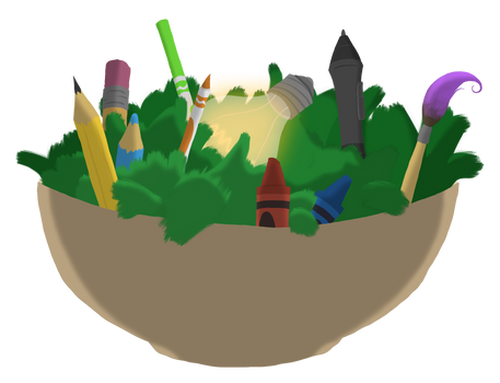 'Imagination Salad' Logo Design