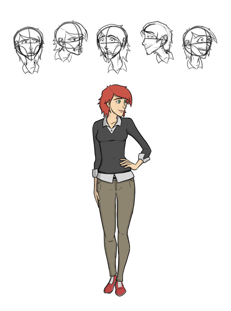 'Sidekick' - Sarah Character Art by captainslam