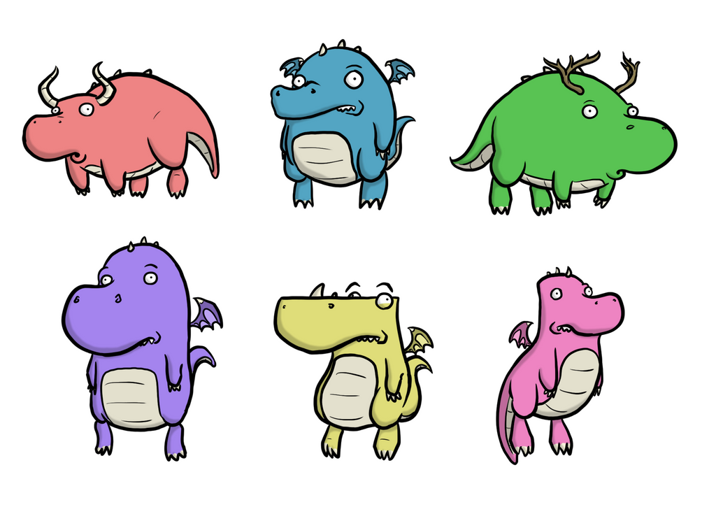Chubby Dragons Concept Art by captainslam
