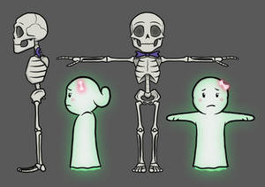 'The Ghost Next Door' Character Reference Art