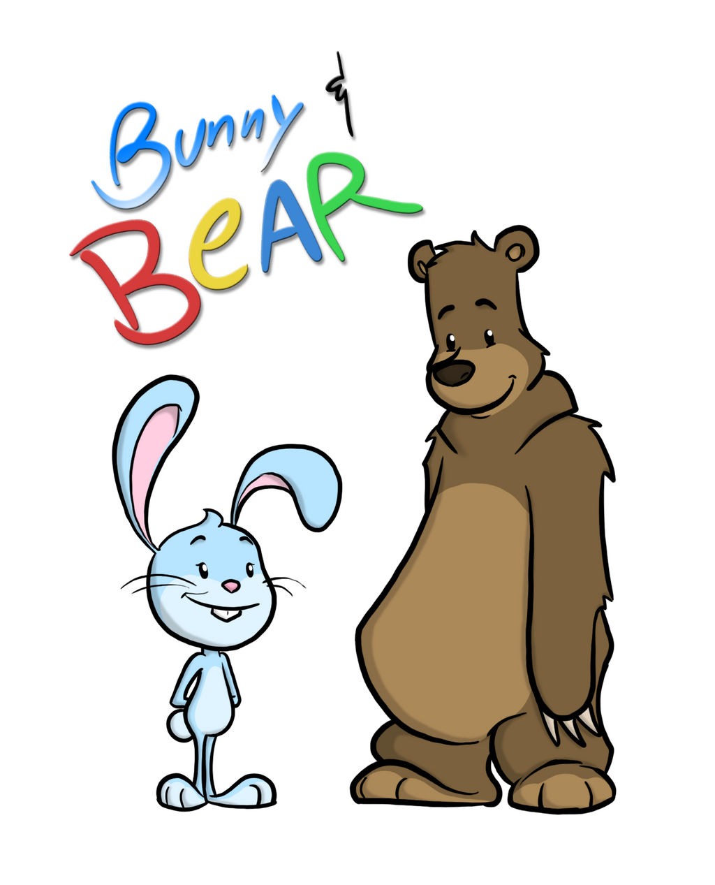 'Bunny and Bear' Character Art by captainslam