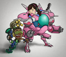 Overwatch - Lucio and D.Va