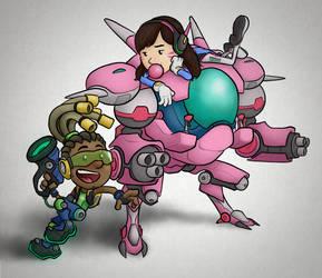 Overwatch - Lucio and D.Va
