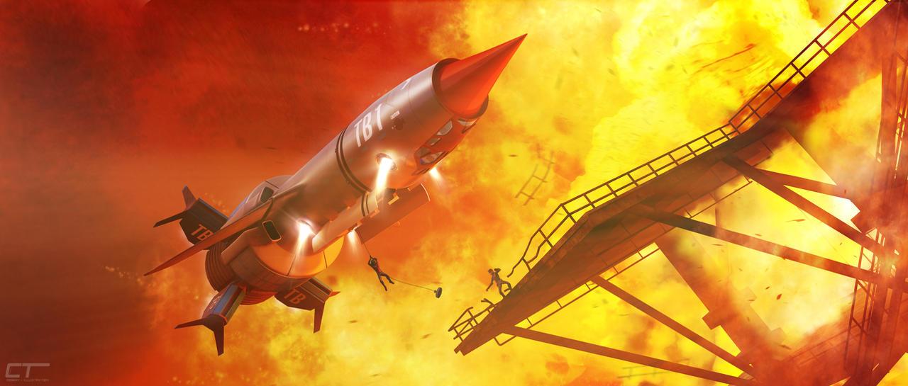 Thunderbird 1 - Firebird by Chrisofedf