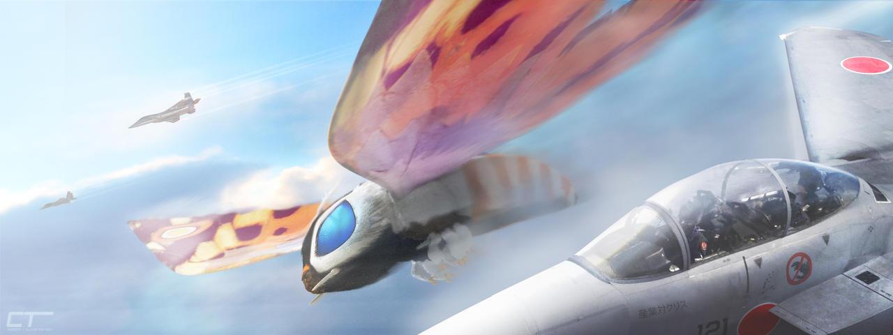 Mothra: Wing Woman by Chrisofedf