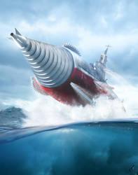 Submarine Battleship Atragon! by Chrisofedf