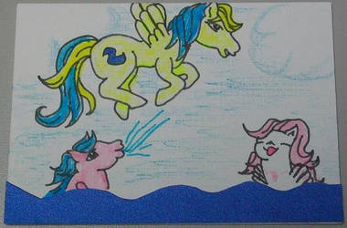 Water fun with friends by Hindsightis2020
