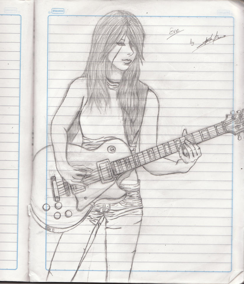 Guitar Girl By CharlieRos On DeviantArt