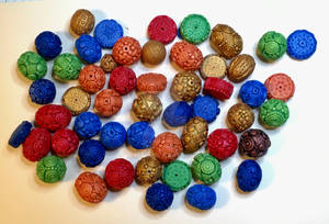 Polymer Clay Textured Beads 2019
