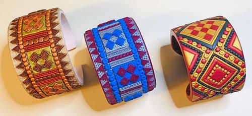 Three Hallstatt-inspired Cuff Bracelets