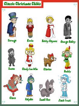 Classic Christmas Chibis